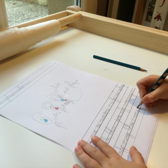 écrire à la main